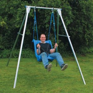 'man on anadapted swing'
